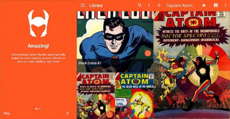 Astonishing Comic Reader là một ứng dụng đọc truyện tranh online trên hệ điều hành Android