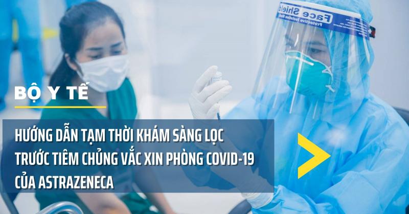 Hướng dẫn tạm thời khám sàng lọc trước tiêm chủng vắc xin COVID-19