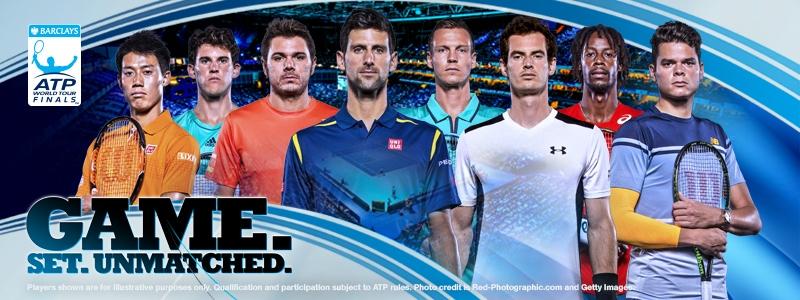 8 tay vợt xuất sắc nhất tham dự ATP World Tour Finals