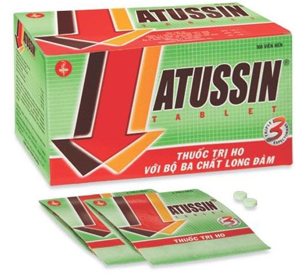 Thuốc ho ATUSSIN dạng viên.