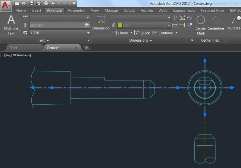Một màn hình thiết kế của AutoCAD