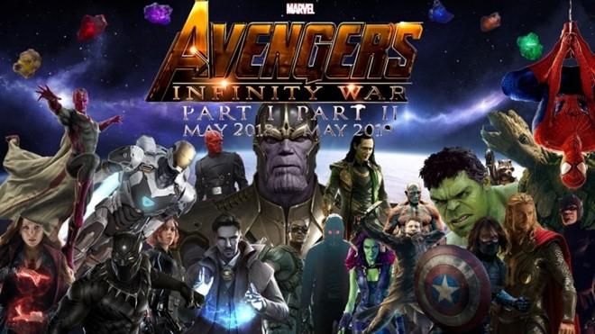 Avengers: Infinity War dự kiến công chiếu vào 04/05/2018