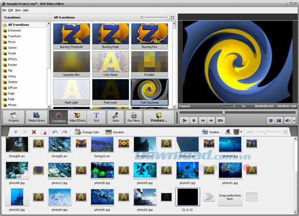 AVS Video Editor – Quản lý, phát triển video
