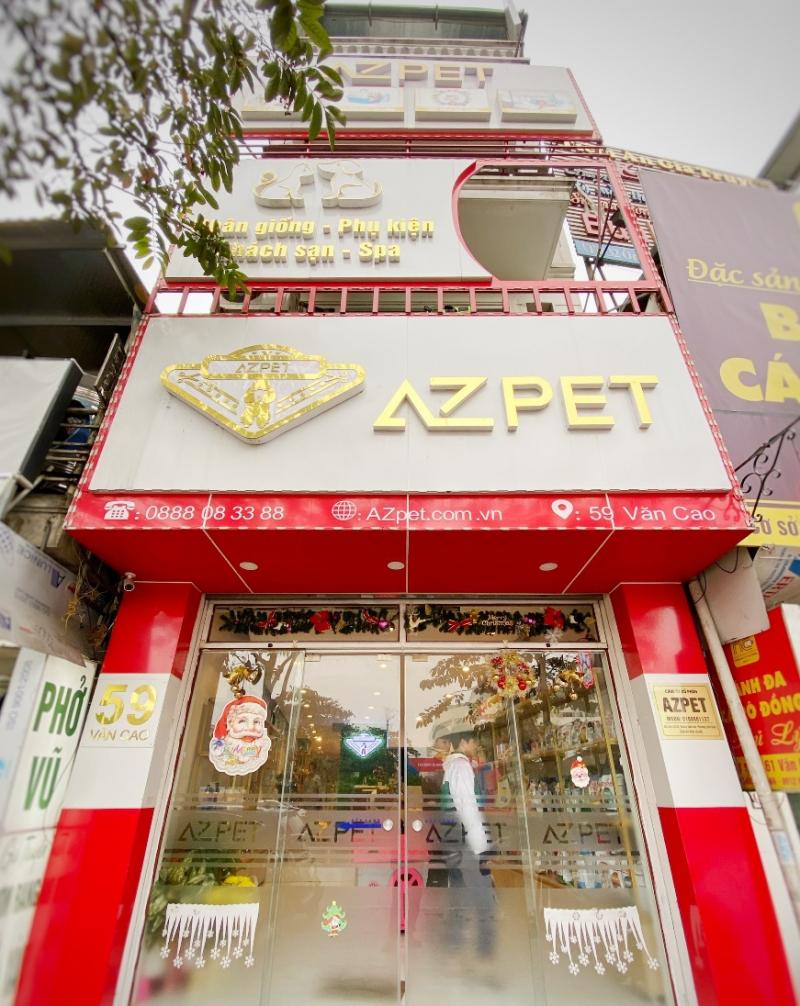 Trụ sở Azpet tọa lạc tại số 59 Văn Cao, Liễu Giai, Ba Đình, Hà Nội