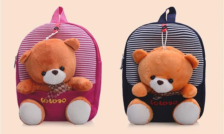 Balo gấu bông - người bạn thân thiết của bé mỗi khi đến trường.