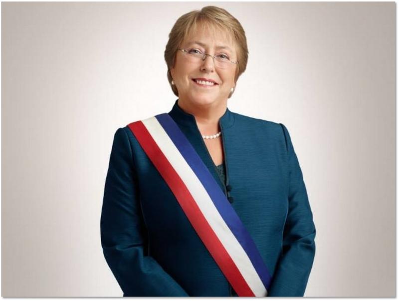 Bà Michelle Bachelet là nữ tổng thống của Chile (Nguồn: Sưu tầm)