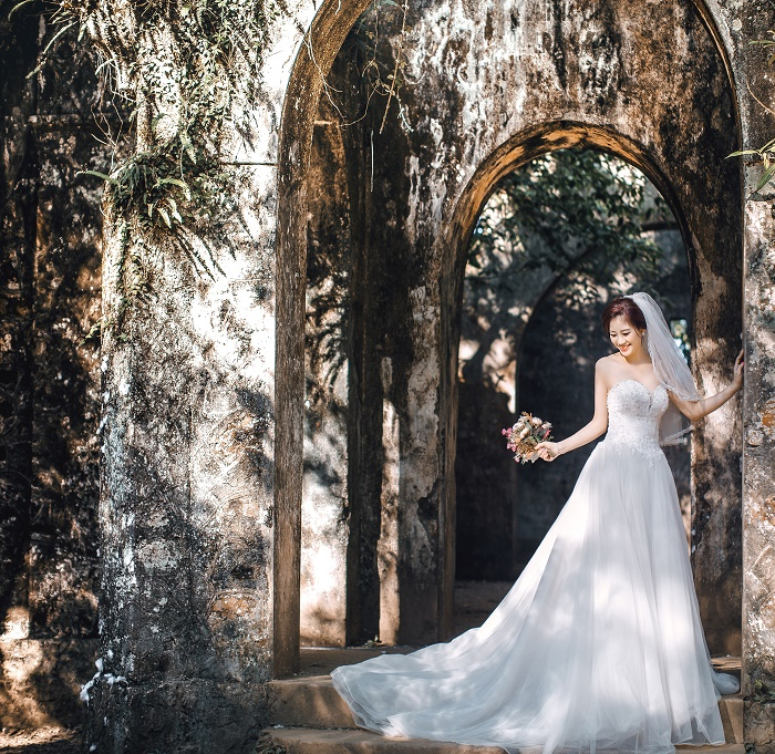 Chụp ảnh cưới ở Nhà Thờ Đổ Ba Vì