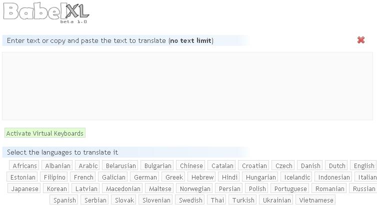 Trang web dịch thuật trực tuyến Babelxl sẽ mang đến cho bạn những tính năng dịch thuật nổi bật