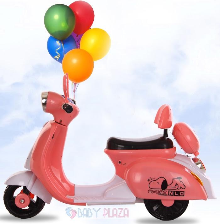 Xe Vespa sang trọng dành cho các bé gái có tại Baby Plaza