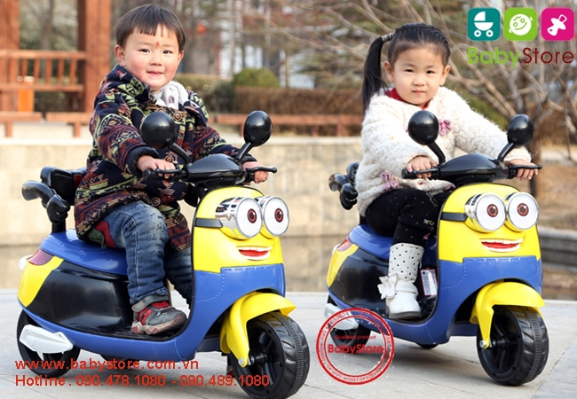 Xe máy điện trẻ em Minion