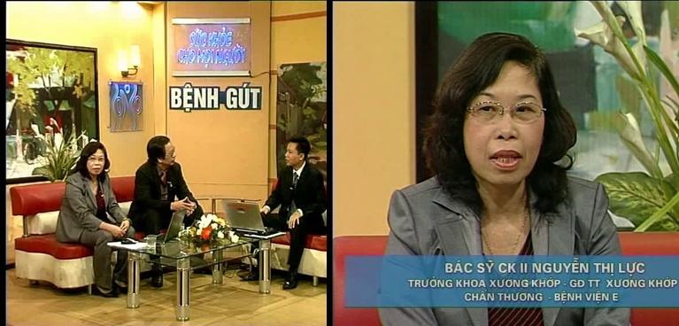 bác sĩ Lực được mời tham gia nhiều chương trình về điều trị bệnh gút