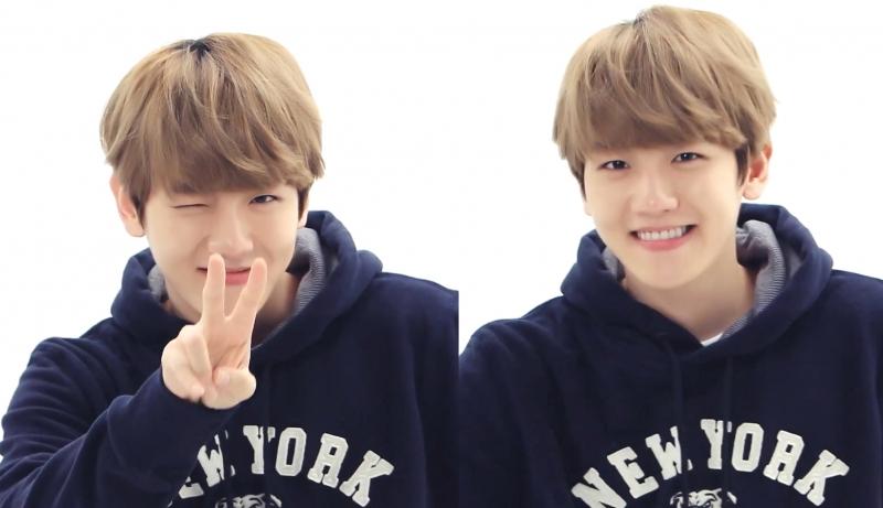 Baekhyun với nụ cười ngọt ngào, trẻ trung