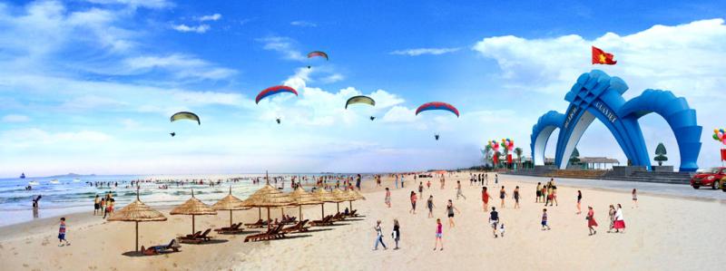 Bãi Cửa Việt là một trong những bãi tắm đẹp thu hút đông đảo khách du lịch