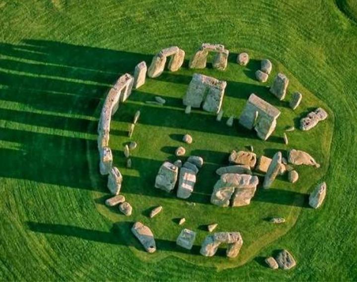 Bãi đá Stonehenge nhìn từ trên cao