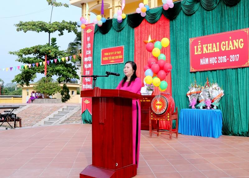 Bài diễn văn khai giảng năm học mới trường tiểu học số 5