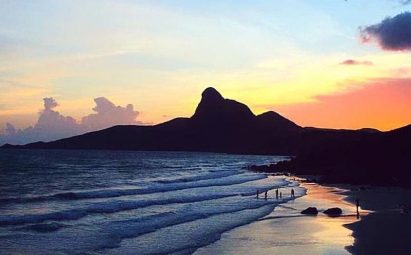 Nhat beach at sunset