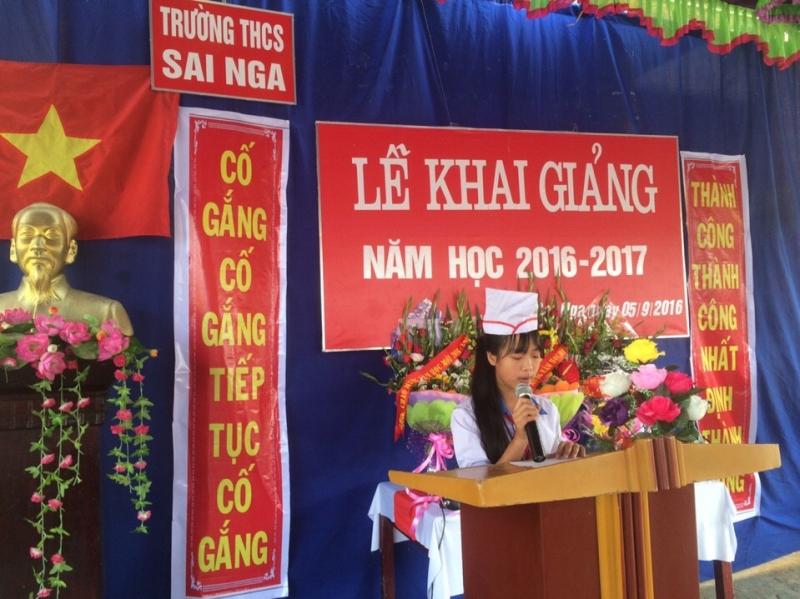 Bài phát biểu khai giảng năm học mới của học sinh THCS (số 1)