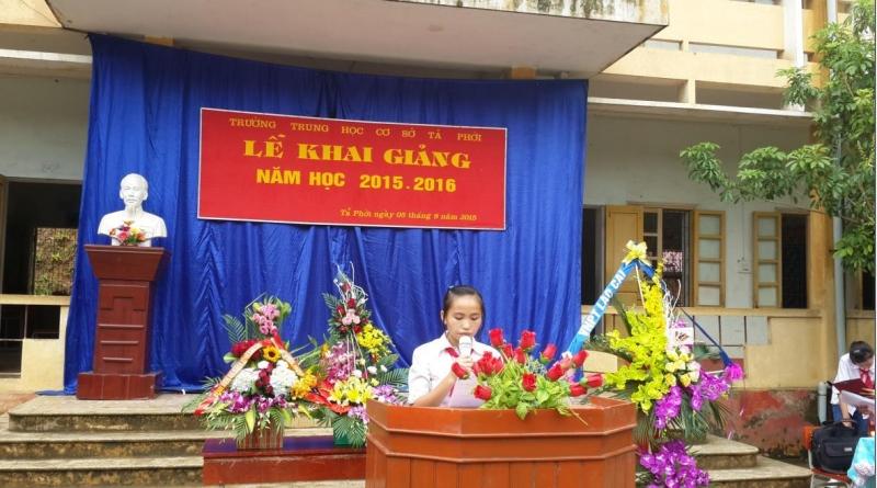 Bài phát biểu khai giảng năm học mới của học sinh THCS (số 3)