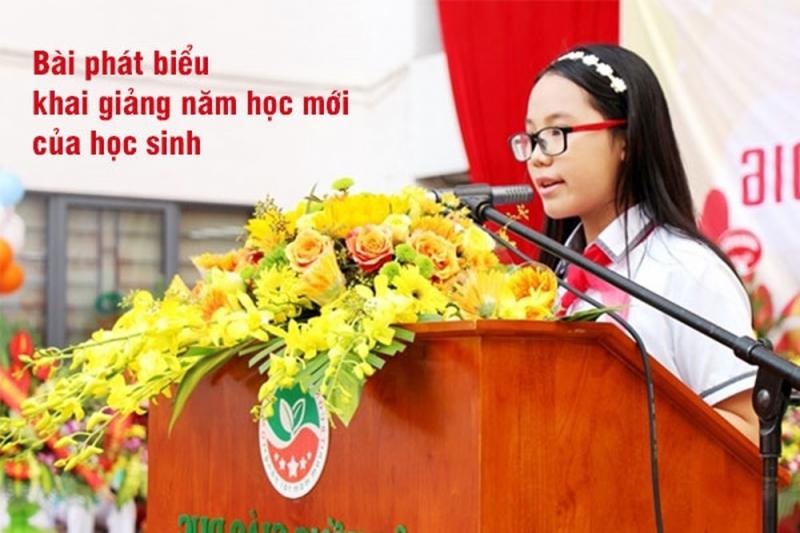 Bài phát biểu khai giảng năm học mới của học sinh tiểu học (số 2)