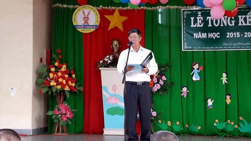Bài phát biểu tổng kết năm học của lãnh đạo địa phương (số 1)