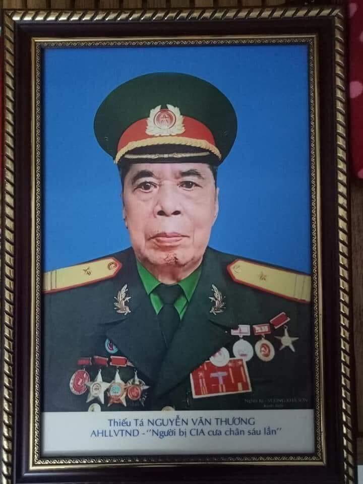 Ảnh chân dung anh hùng liệt sĩ Nguyễn Văn Thương