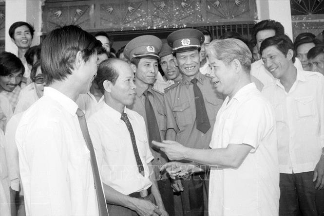 Chủ tịch Hội đồng Bộ trưởng Đỗ Mười thăm Quảng Trị (1/5/1990)