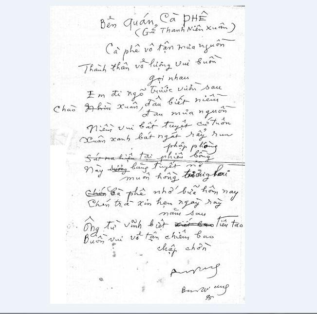 Bản chép tay của tác giả