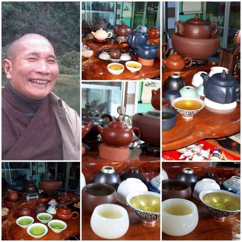 Ảnh Sư thầy Thích Tâm Căn, biệt hiệu Liên Hoa Trà, chân tu tại chùa Phước Thể - Liên Hương