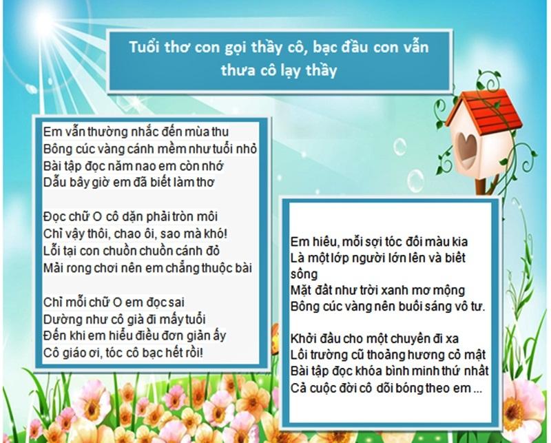Top 10 Bài thơ tri ân thầy giáo hay nhất - Toplist vn