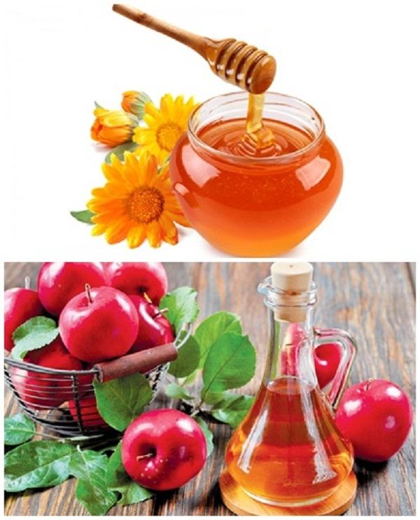 Mật ong và giấm táo