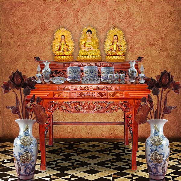 Bài văn khấn lễ Giao Thừa tại bàn thờ Phật