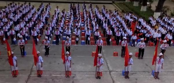 Bài văn tả buổi lễ chào cờ đầu tuần số 13