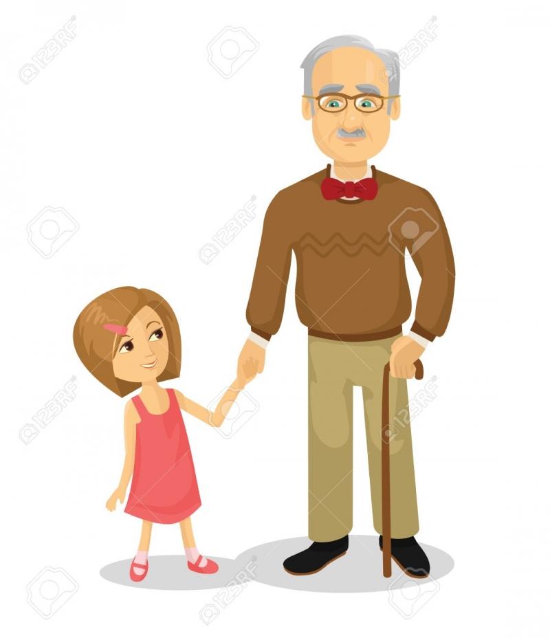 Tuy đã già, nhưng ông rất thương con quý cháu, cởi mở và hòa thuận với mọi người.