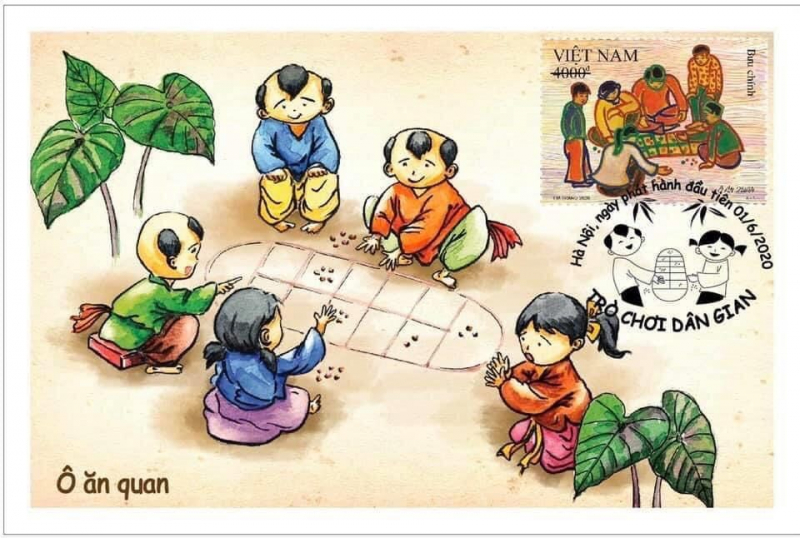 Bài văn thuyết minh về trò chơi tuổi thơ - Ô ăn quan