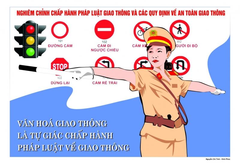 Văn hóa giao thông là tự giác chấp hành luật về giao thông