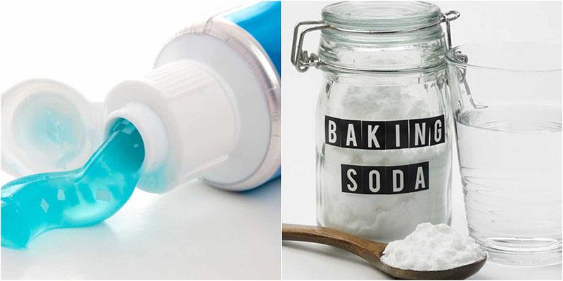 Baking soda với kem đánh răng cũng là một phương pháp hiệu quả