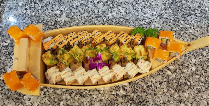 Bày trí sushi đặc biệt