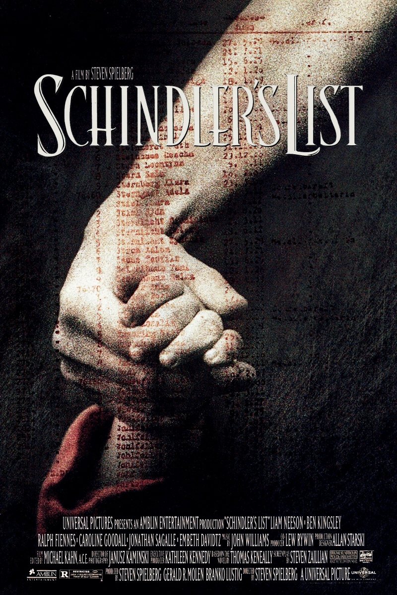 Poster phim Bản danh sách của Schindler năm 1993