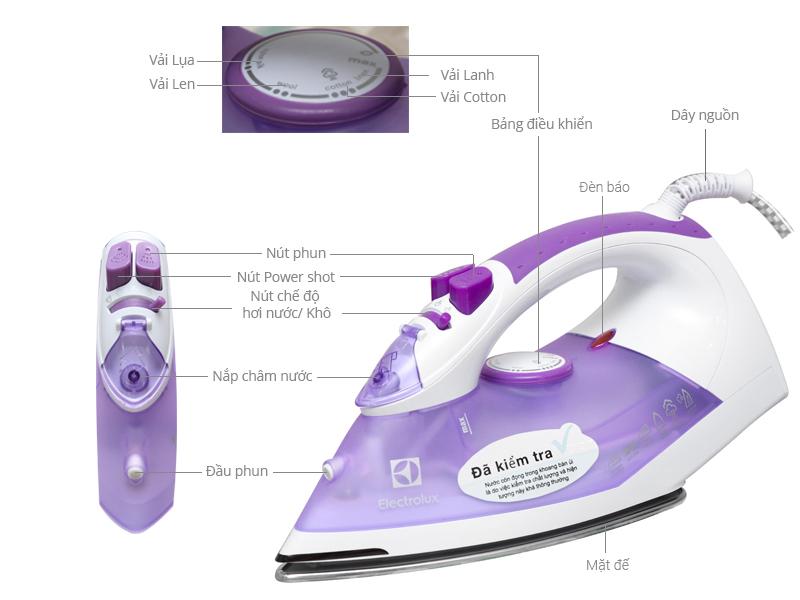 Bàn ủi hơi nước Electrolux ESI4015