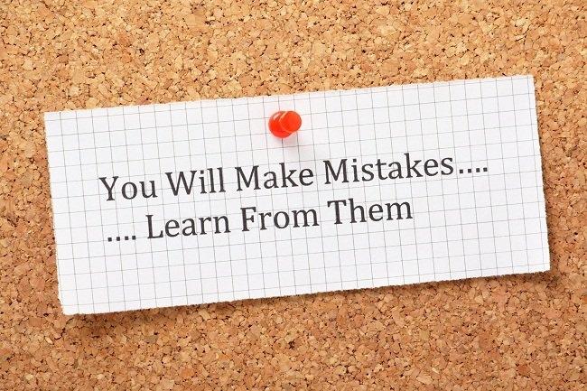 Học hỏi từ những sai lầm và một trong những cách tốt nhất để hoàn thiện bản thân