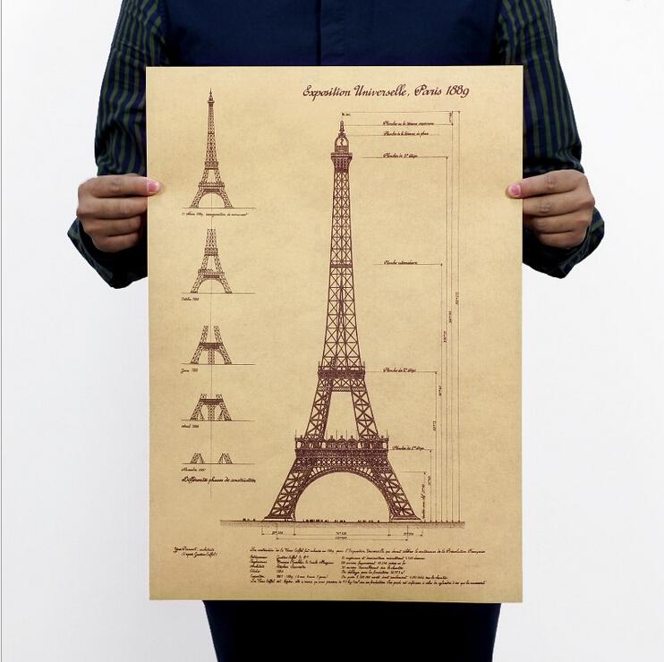 Bản vẽ tháp Eiffel