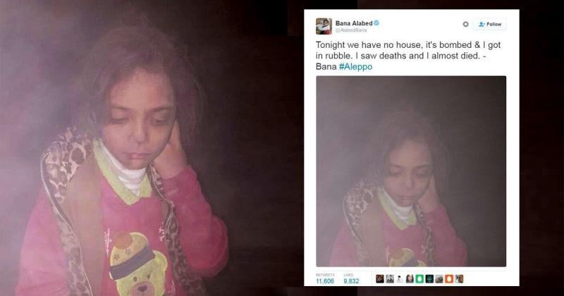 Một bài Tweet của Baba Alabed sau một trận bom