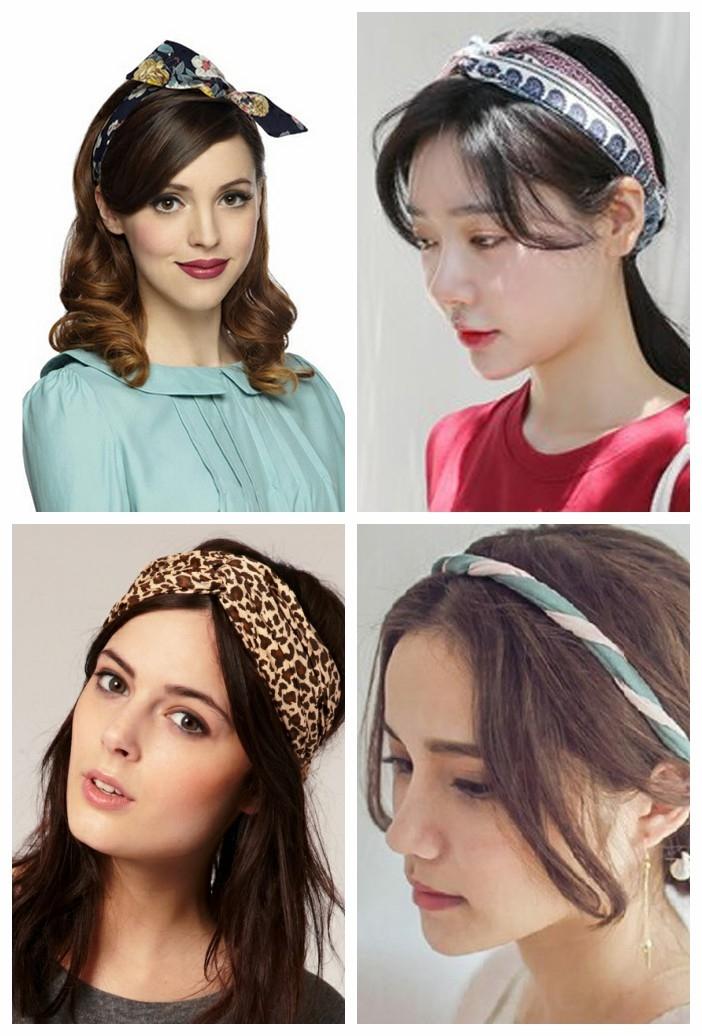 Băng đô vải với nhiều kiểu tóc đẹp mắt