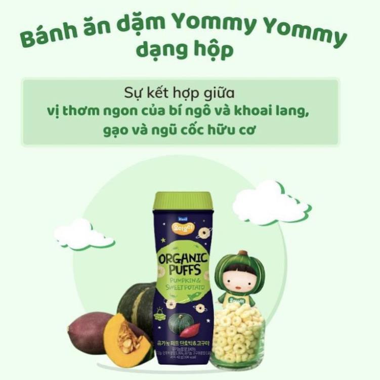 Bánh ăn dặm Organic Yommy Yommy Maeil