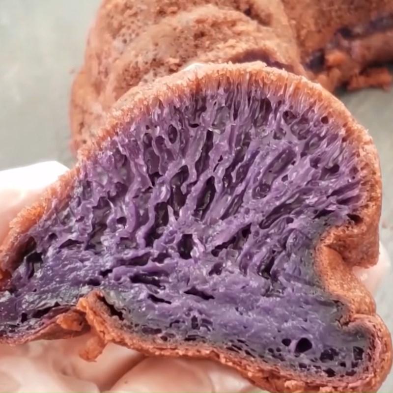Bánh bò rễ tre khoai lang tím nướng