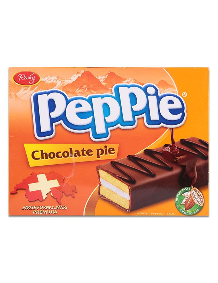 Bánh bông lan phủ sô cô la nâu Peppie