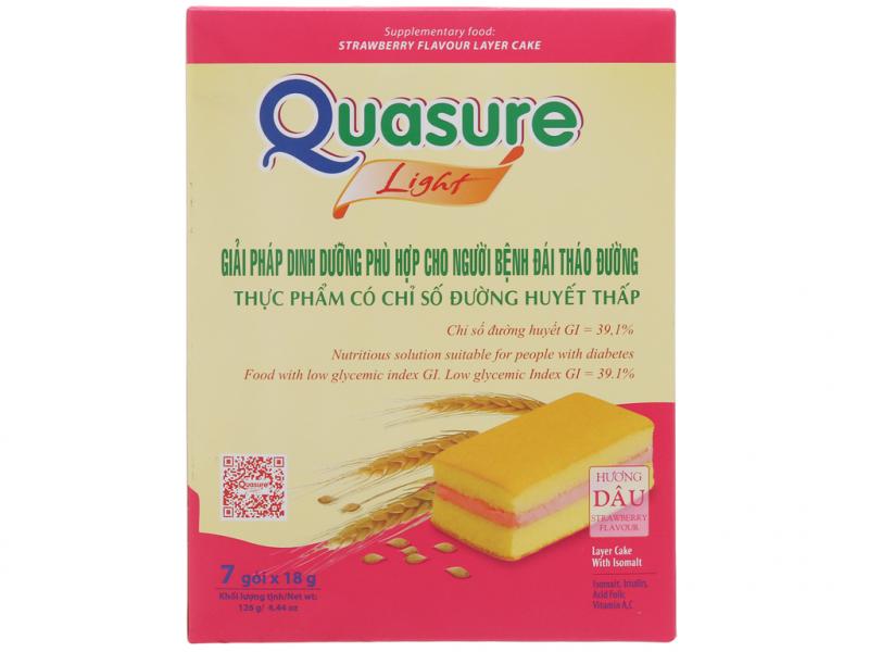 Bánh bông lan Quasure light hương dâu