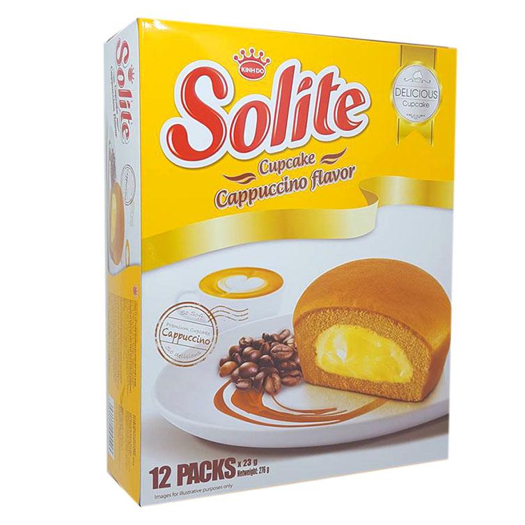 Bánh bông lan cupcake Solite vị capuchino