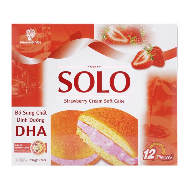 Bánh bông lan kem dâu SOLO