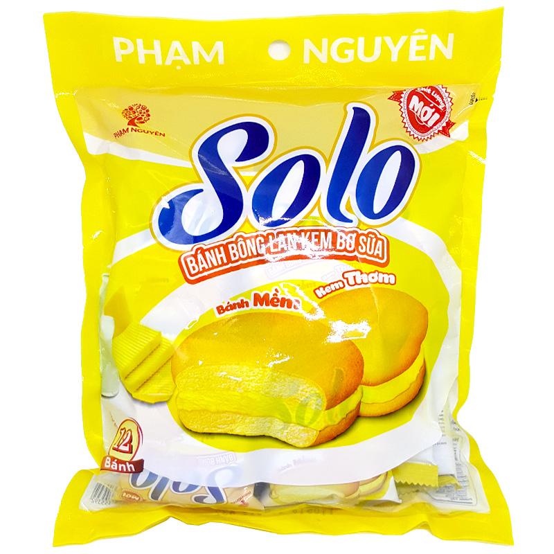 Bánh bông lan kem bơ sữa SOLO